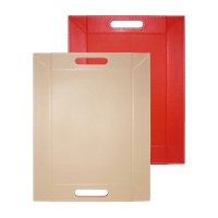 Freeform, Tablett 40x28 cm, rot/taupe