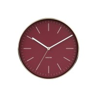 "Present Time, Wanduhr ""MINIMAL"", 27,5cm, rot/gold"
