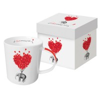 "PPD, Jumbotasse mit Karton ""Love Carries All"""
