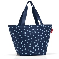 Reisenthel Shopper M spots navy blau