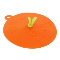 Designforum Outdoor Silikondeckel orange mit Blatt
