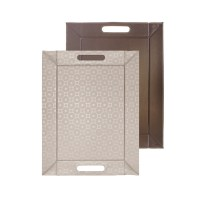 Freeform Tablett 45x35 cm Cricles champagner