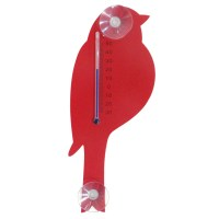 "Designforum Thermometer ""Vogel"" rot"